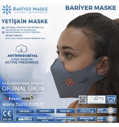Antimikrobiyal Üst Düzey Yıkanabilir Koruyucu Maske